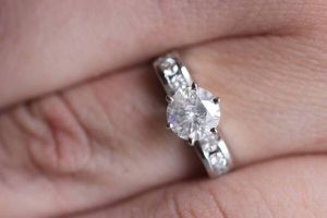 1.09 CT PLAT DIAMOND SOLITAIRE ENGAGEMENT WEDDING RING CERTIFIED for Sale in Las Vegas, NV
