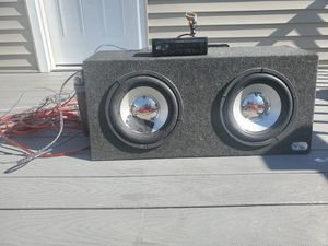 Complete Mobile Sound System (Subwoofer, Capacitor, & Pioneer Stereo) for Sale in Brockton, MA
