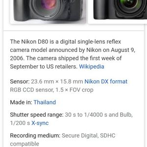 Nokia DSLR D80 Camera for Sale in Phoenix, AZ
