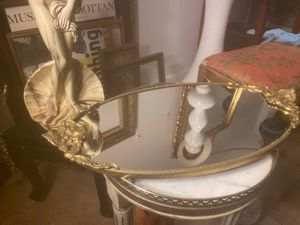 Vintage brass ornament table mirror for Sale in Los Angeles, CA