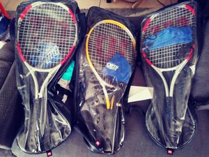 3 tennis rackets with bags. In great conditions. $15 each. for Sale in San Diego, CA