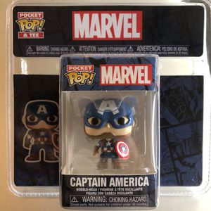 Brand new sealed never been opened mini Funko Marvel Captain America pocket POP Christmas stocking stuffer for Sale in Ewa Beach, HI