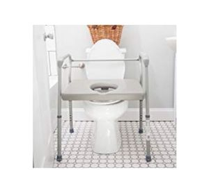DMI Adjustable Bedside Commode for Adults Can Be Used with Included 7 Quart Pail or as a Toilet for Sale in Rancho Cucamonga, CA