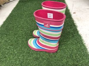 Kids Small girl rain 🌧 boots size 11 Sperry Top Slider brand for Sale in Chula Vista, CA