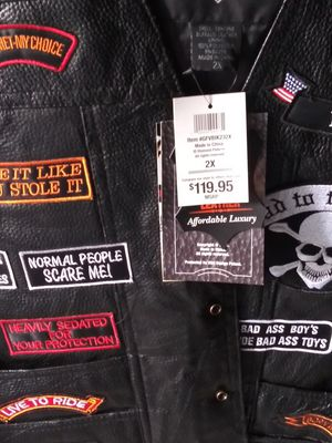 Motorcycle vest 2 xl. But they run small so it like a xl for Sale in Riverview, FL
