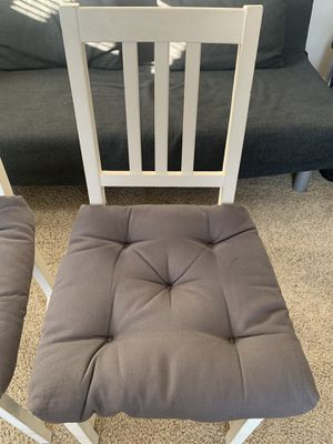IKEA white wooden chairs for Sale in Azusa, CA