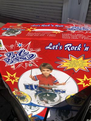 Brand new kids size toy drum set the whole drum set included for Sale in Fresno, CA