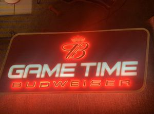 "Budweiser ""Game Time"" Sign for Sale in Sacramento, CA"