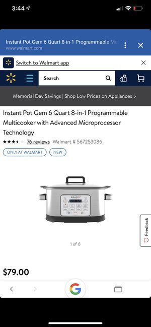 Instant pot multi cooker brand new! for Sale in San Antonio, TX