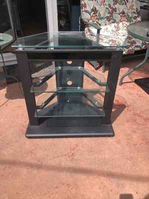 Really nice tv media stand. In excellent condition. Really well made. Sturdy metal frame and heavy glass. Really really nice for Sale in San Mateo, CA