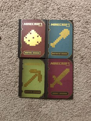 Set of 4 Minecraft Essential Books for Sale in Sterling, VA