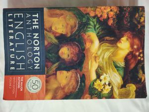 The Norton Anthology of English Literature: The Major Authors. 9th Edition. Volume 2 for Sale in Clovis, CA