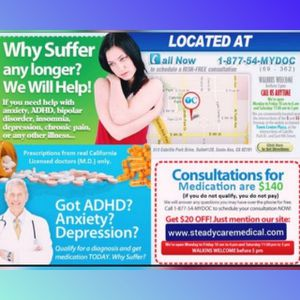 ,✅Got ADHD? Anxiety? Depression? SCMc for Sale in Long Beach, CA
