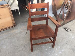 Very nice antique vintage stickley bros mission oak arts & crafts chair for Sale in Norwalk, CA
