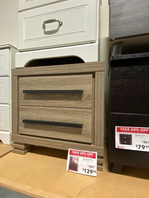Nightstand, Dark Taupe & Black for Sale in Bell Gardens, CA