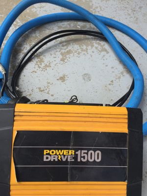 Power Drive 1500 watt power inverter and cable for Sale in Roanoke, IL