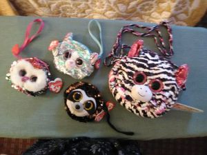 TY beanie baby purses. $5 apiece or $20 for whole set for Sale in Nashville, TN