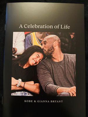 Kobe Bryant Memorial Program for Sale in Los Angeles, CA
