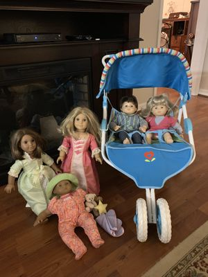 American girl dolls, one holiday special, twins, Itty Bitty Baby and look a like. for Sale in Sebring, FL