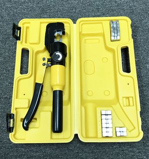 New $35 Crimper 10 Ton Hydraulic Crimping Tool /w 9 Dies Wire Battery Cable Lug Terminal for Sale in El Monte, CA