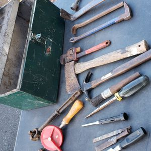 Vintage tools with metal toolbox for Sale in Tacoma, WA