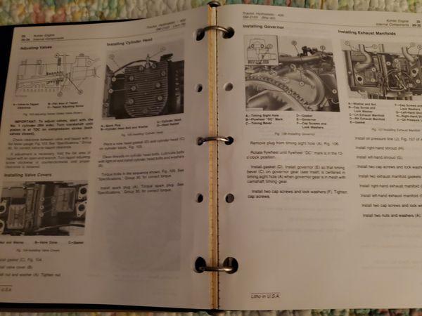 JOHN DEER 400 HRDROSTATIC TRACTOR MANUAL