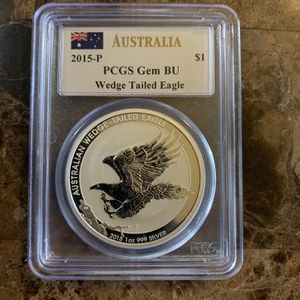 Silver Coin Graded, Wedge Tailed Eagle, Mercanti Signed for Sale in Longwood, FL