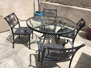 Cast iron outdoor patio furniture set for Sale in San Diego, CA