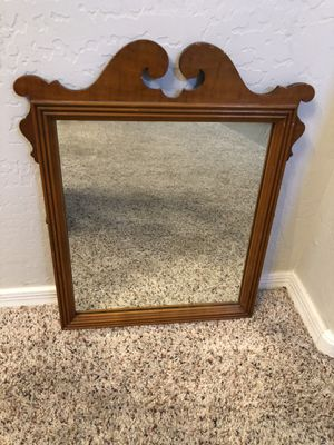 21x18 Wood Framed Mirror Antique vanity mirror for Sale in Gilbert, AZ