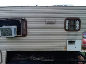 Capri camper on 12ft flatbed trailer for Sale in Hutto, TX