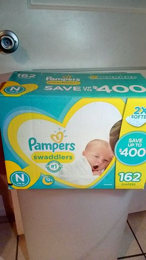 162 baby pampers and huggies MIX!! (READ DESCRIPTION) for Sale in Phoenix, AZ