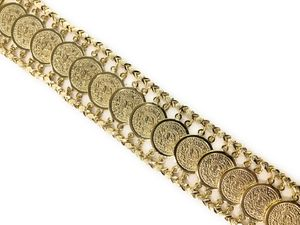 Gold Plated coin Bracelet for Sale in Chicago, IL