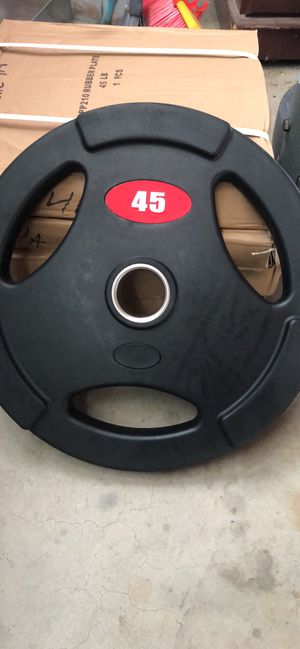 45 lb grip plates (sold in pairs) for Sale in Rowland Heights, CA