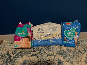 Opened packs of diapers for Sale in Lacey, WA