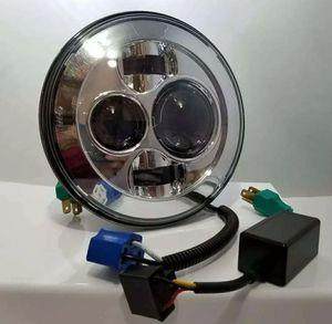 "7"" Round LED Headlight for Harley Davidson Motorcycles Eagle Lights Chrome Harley Daymaker for Sale in HALNDLE BCH, FL"