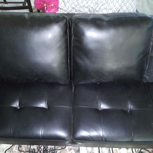 Black Leather Futon for Sale in Upland, CA