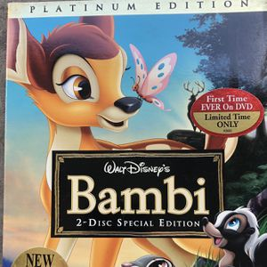 Bambi Platinum Edition DVD [Unopened] for Sale in Las Vegas, NV
