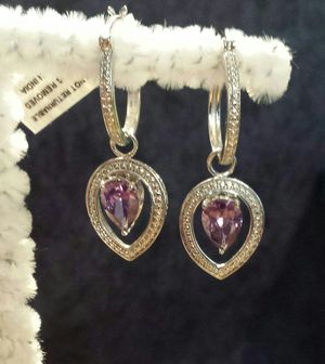Simulated Purple Diamond (Pear) Earrings for Sale in Lawrenceville, GA