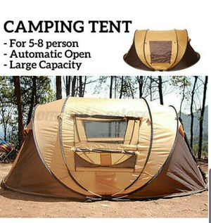 Quick and Instant setup Large Tent, Waterproof for 5-8 persons for Camping for Sale in ROWLAND HGHTS, CA