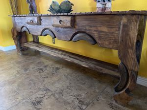 RUSTIC MEXICAN CONSOLE OR SOFA TABLE for Sale in Phoenix, AZ