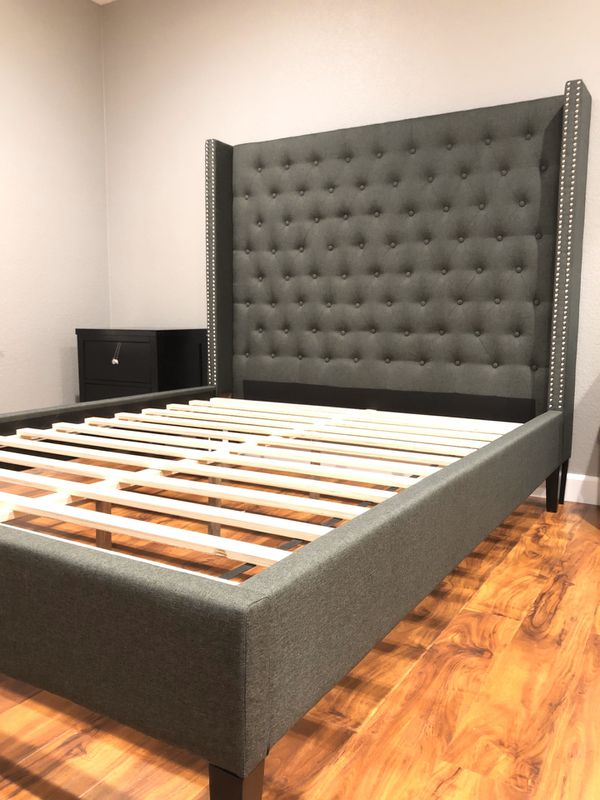 New Bed Frame : Full / Queen / King / Cal King : Mattress Set Sold Separately - No Box Spring Required