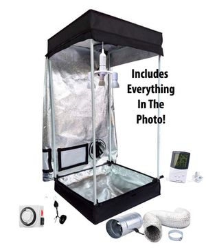 2x2 Grow tent kit w/84w full spectrum led Grow light. Perfect for seedlings. Everything in photo included. More available: lec, cmh, fans, filters, f for Sale in Colorado Springs, CO