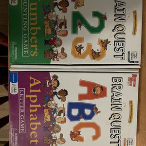ABC And 123 Brain Quest Board Games for Sale in Odenton, MD