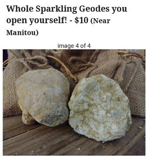Whole Sparkly Geodes you break open yourself for Sale in Colorado Springs, CO