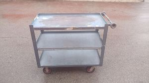 Heavy duty metal 3 shelf utility carts for Sale in Columbus, OH