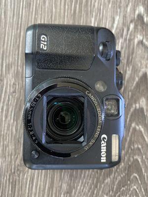 Canon g12 camera for Sale in Encinitas, CA