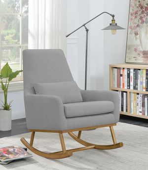 Upholstered Rocking Chair! Grey And Golden Brown! Brand new! for Sale in Sacramento, CA