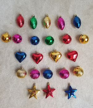 Kurt Adler 23 Assorted Multi-color Mini Shatterproof Shiny Ornaments for Sale in Gaithersburg, MD