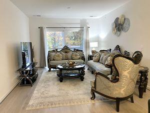 Homey Design Upholstery Living Room Set Victorian, European & Classic Design Sofa Set for Sale in Annandale, VA