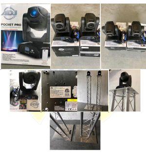 AMERICAN DJ ADJ POCKET PRO 25-Watt LED Moving Head Light with 2 Trust (8 x 8 x 80 Inch). for Sale in Miami, FL